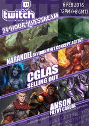 24 Hour Livestream Session by Narandel