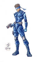 Solid Snake 04 by DuneTiger
