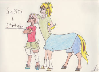 Sagita and Stefaun by zebG