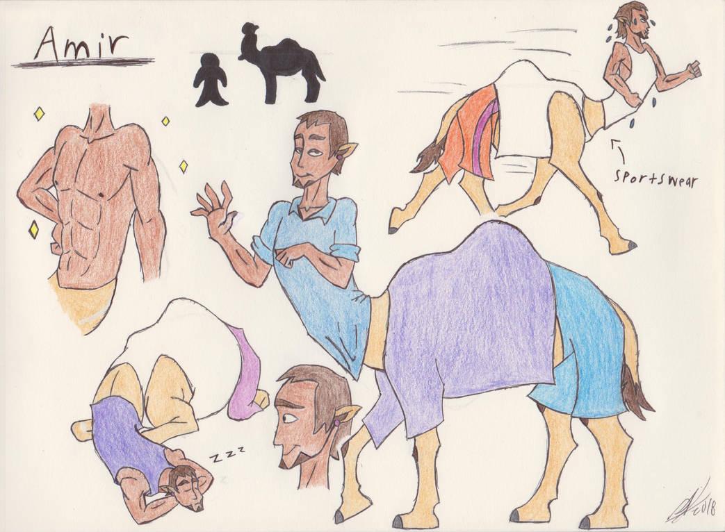 Amir the Cameltaur by zebG