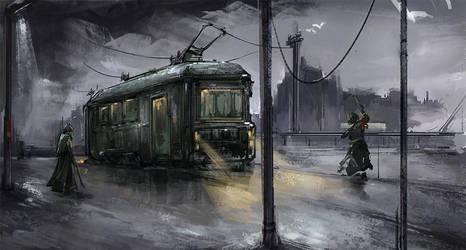 Tram - City by benevolencer