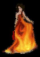 The Girl On Fire by JadeAriel