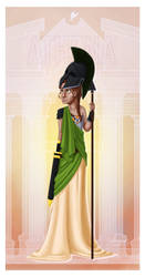 Greek Goddess - Athena PRINT by JadeAriel