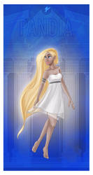 Greek Goddess - Pandia PRINT by JadeAriel