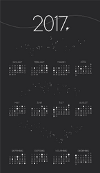 2017 Moon Phase Calendar PRINT by JadeAriel