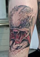 predator tattoo by graynd