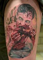 Walking dead zombie tattoo by graynd