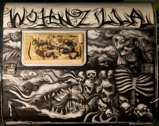 freestyle airbrush caravan project WOHNZILLA by graynd