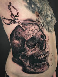 tailor skull... in progress by graynd