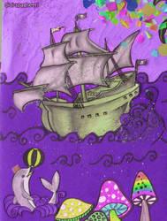 pirate's ship by didi-spaghetti