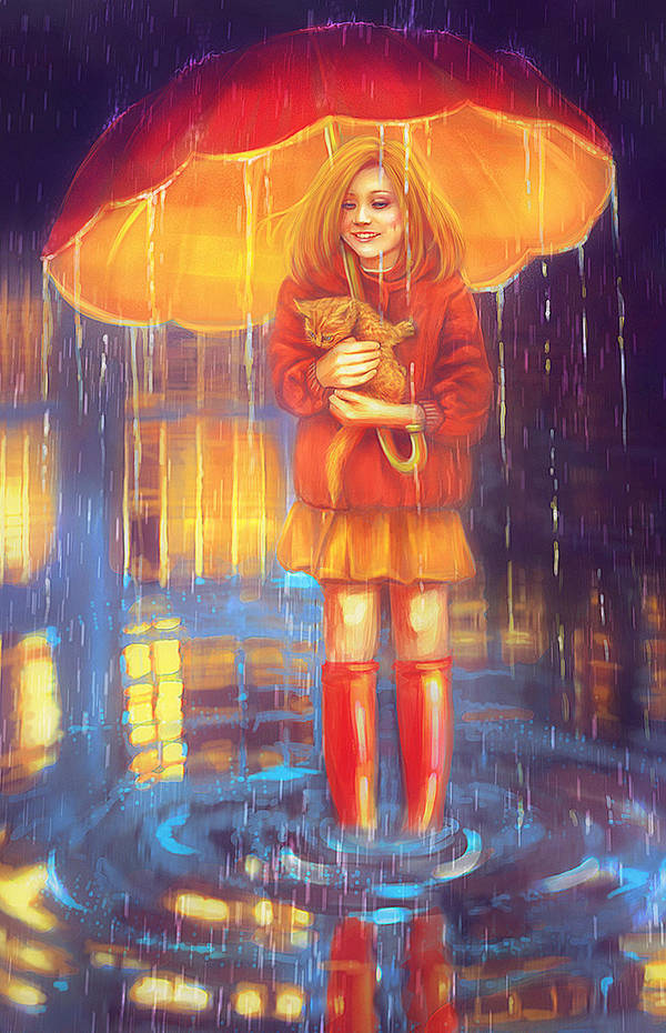 My Sun Under An Umbrella by DolceCaramella