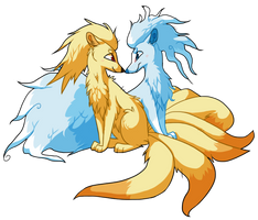 ninetales duo by xCoalchaser