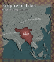 Tibet Civilization V Map Art by AlexfromEarth