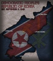 North Korea Civilization V Map Art by AlexfromEarth