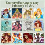 2017 Summary of Art by EternityEmporium