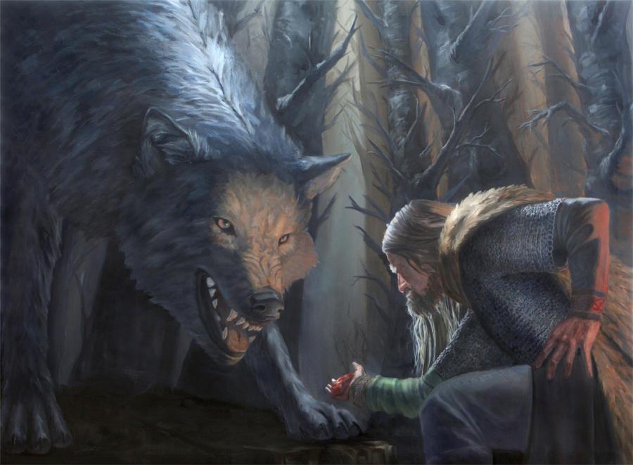 Sacrifice, a tale of Tyr and Fenrir by DymondStarr