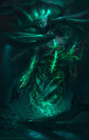 Ulmo, Guardian of the Ancient Waters by DymondStarr