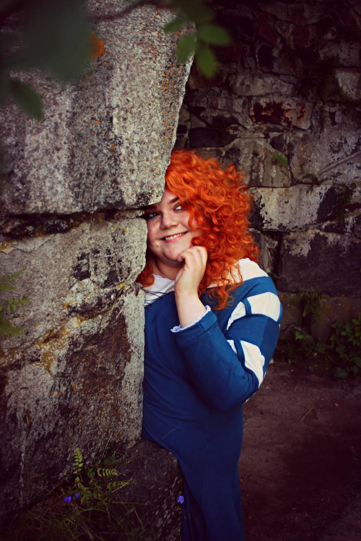 Hiding from Trouble (Brave: Merida) by KvartsiCosplay