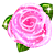 free avatar - glittered Pink rose by ScarletWarmth