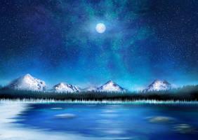 Alpine Winter Study by ScarletWarmth