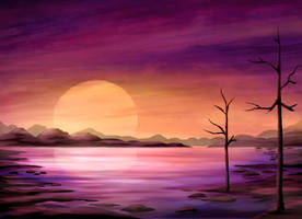 Blood Sunset by ScarletWarmth