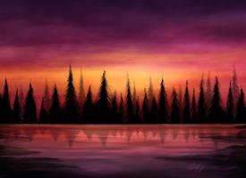 Vermillion Lake by ScarletWarmth