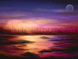 3 hour Daybreak Speed Paint by ScarletWarmth