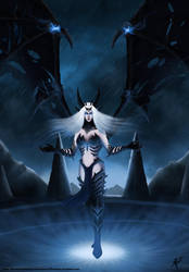 Sindragosa the Queen of the Frostbrood by R-12artWORK