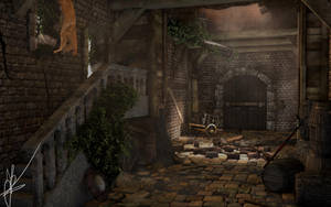 Medieval interior by Nieuwus