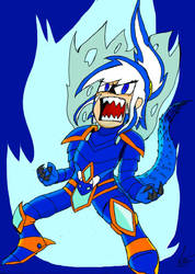 Glacia - Armor and Flames by leomajah
