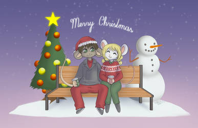 merry christmas by frogela