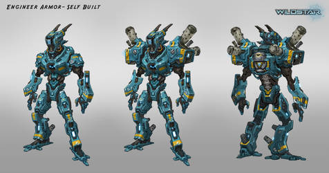 Wildstar Engineer Armor Concept by Koryface