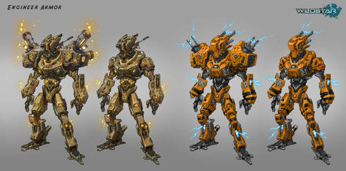 Engineer Raid Armor Variants by Koryface