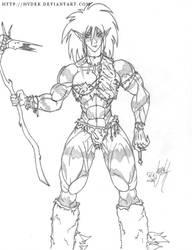 Tall Muscle Elf by hydek