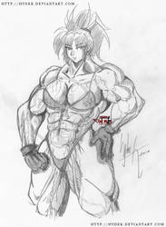 bulky Leona sketch by hydek