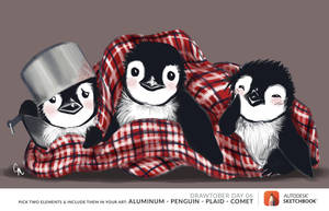 Penguin Trio by SurrealMime