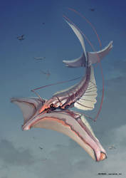 Creature design: Sky Lobster by XAQT