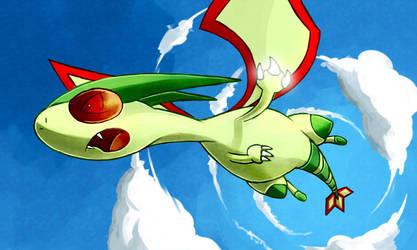 Flygon used Dragon Claw by LazyAmphy