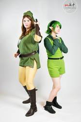 Link and Saria-Green by Ranaxalu