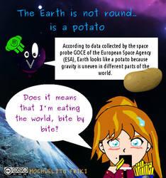 Earth is a potato by Mochuelitofriki