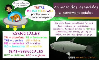 Truco mnemotecnico: Aminoacidos by Mochuelitofriki