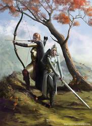 Female Warriors by Fetsch