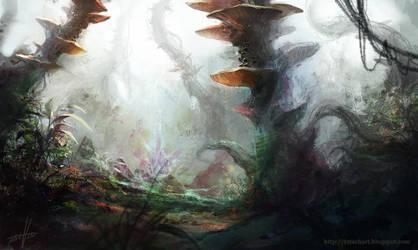 Mushroom Jungle by Fetsch