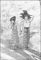 Goku and Chichi by Moonsylver