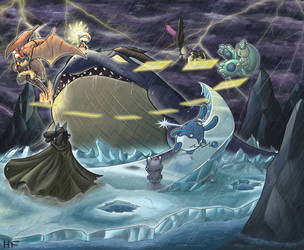 Fighting Against the Sea Monster by hftran
