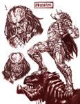 Predator Sketching by inubiko