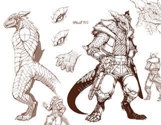 Lizard man by inubiko
