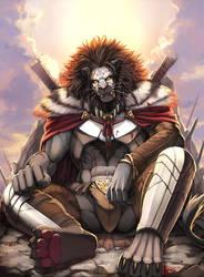 Black lion by inubiko