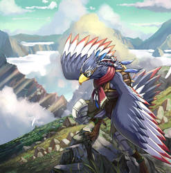 Bird man by inubiko
