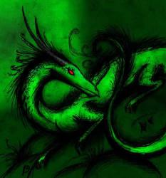 Greenary  feathery dragon by Ragonic